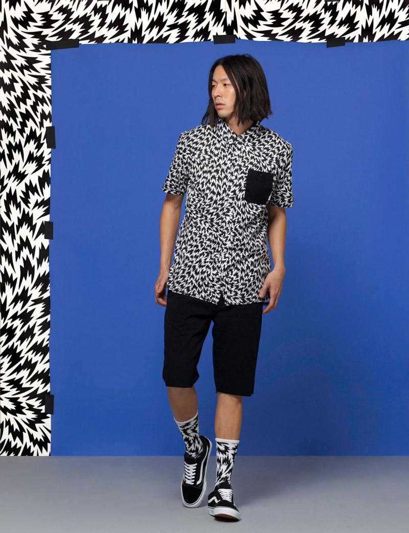 Vans x Eley Kishimoto — pánská košile s psychedelickým vzorem — oblečení, boty a doplňky Living Art