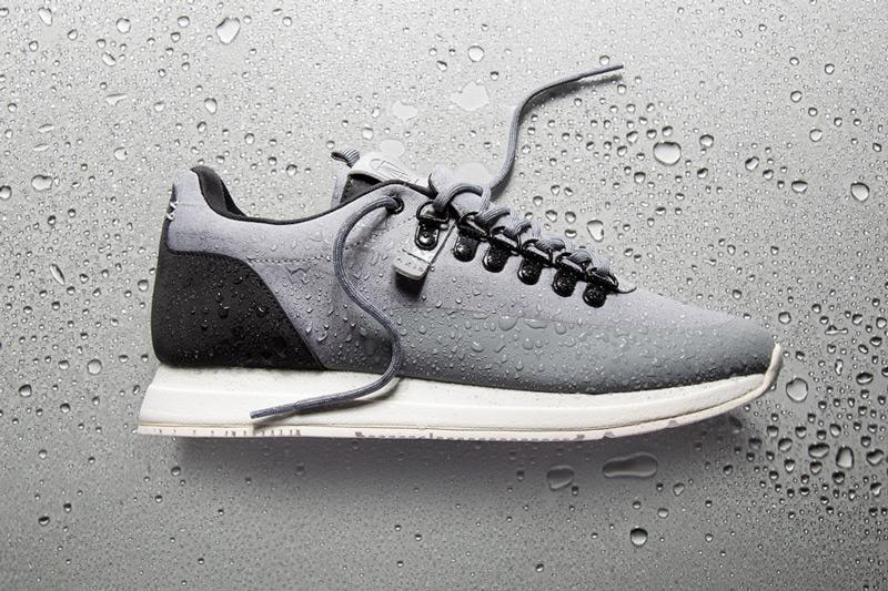 Akio — šedé boty, tenisky, dámské a pánské sneakers, voděodolné, nepromokavé — The Orion — Rain City Pack