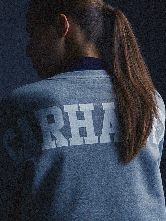 Carhartt WIP – šedá mikina – podzim/zima 2015, dámské oblečení