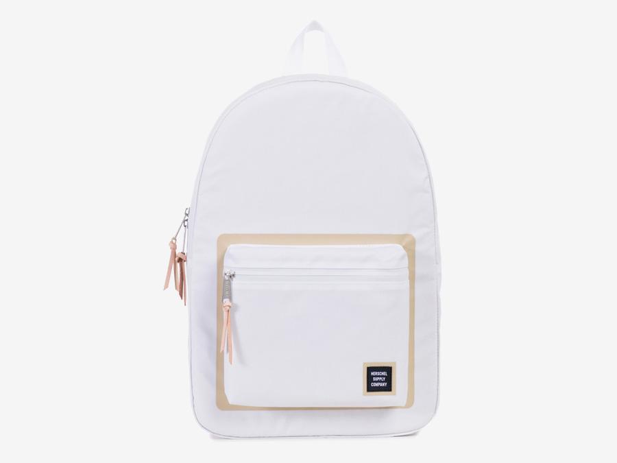 Herschel Supply Studio — bílý batoh, stylový, voděodolný, na záda, školní, nepromokavý — Settlement Backpack