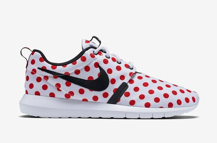 Nike Roshe One NM QS Polka Dot – bílé boty s červenými puntíky, sneakers, puntíkované, tenisky, dámské a pánské – Roshe Run