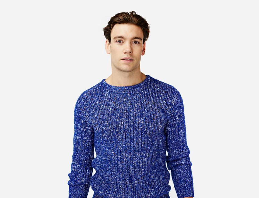 Penfield — pánský modrý svetr — pánské oblečení jaro/léto 2015
