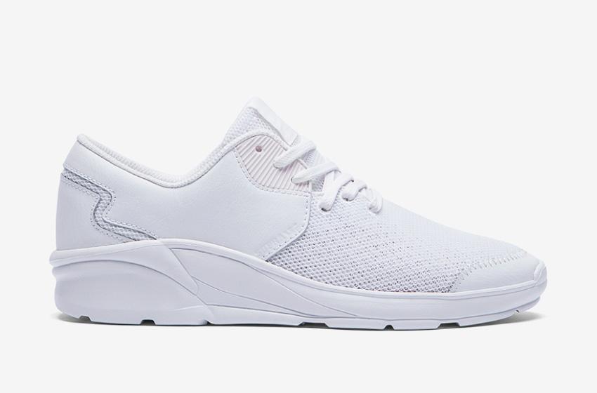 Boty Supra Noiz White — bílé, bílá podrážka, pánské, dámské, sneakers, běžecké tenisky