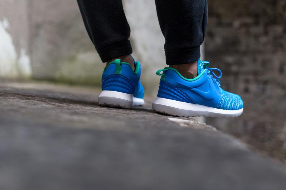 Nike Roshe One NM Flyknit Premium — modré boty, pánské a dámské sneakers, tenisky, Roshe Run, běžecké