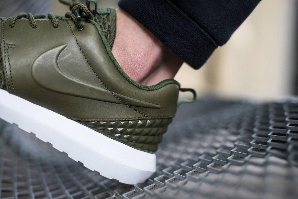 Nike Roshe One NM Flyknit Premium — zelené (olivové) boty, pánské a dámské tenisky, sneakers, Roshe Run, běžecké