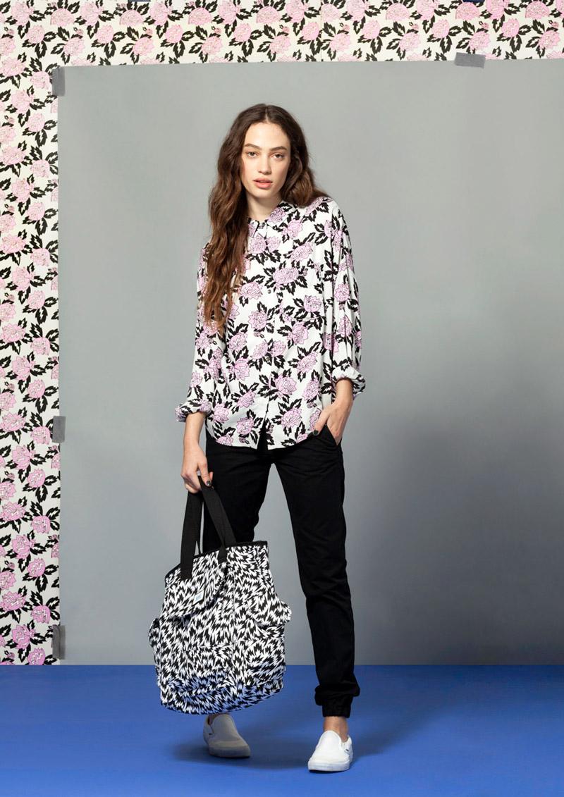 Vans x Eley Kishimoto — dámská košile s dlouhým rukávem a květinovým vzorem Magnolia — oblečení, boty a doplňky Living Art