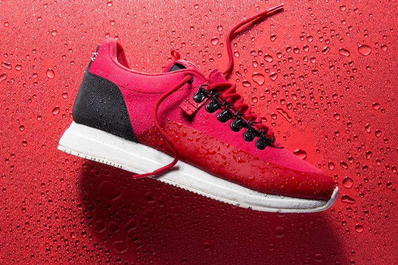 Akio — červené boty, tenisky, dámské a pánské sneakers, voděodolné, nepromokavé — The Orion — Rain City Pack