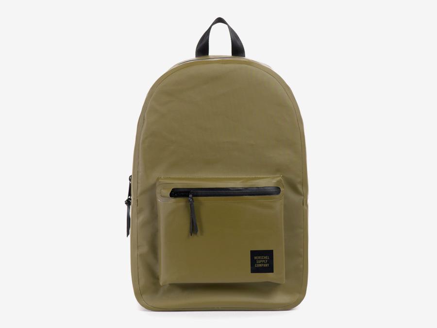 Herschel Supply Studio — batoh, zelený, voděodolný, školní, nepromokavý — Settlement Backpack