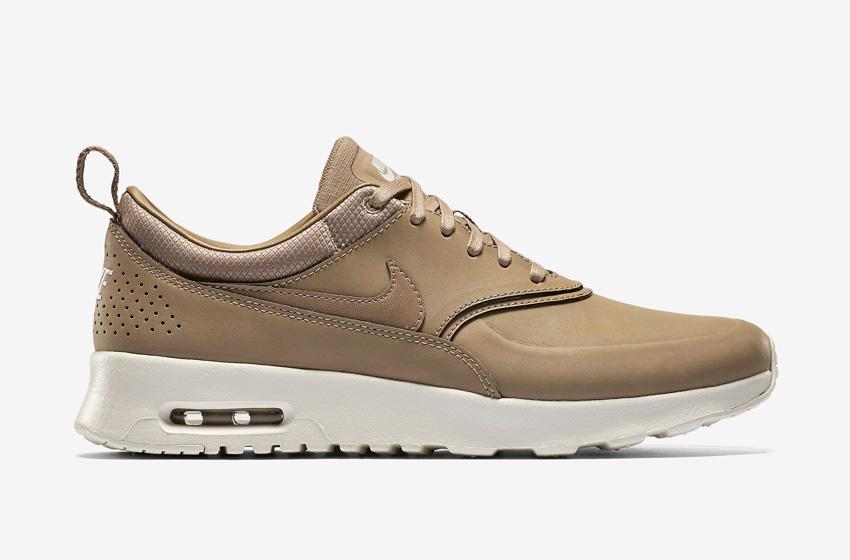 Nike Air Max Thea Premium Desert — dámské boty — světle hnědé (pískové), kožené, tenisky, sneakers
