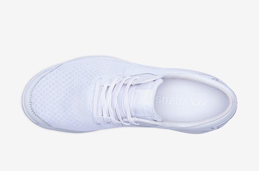 Boty Supra Noiz White — bílé, horní pohled, pánské, dámské, sneakers, tenisky