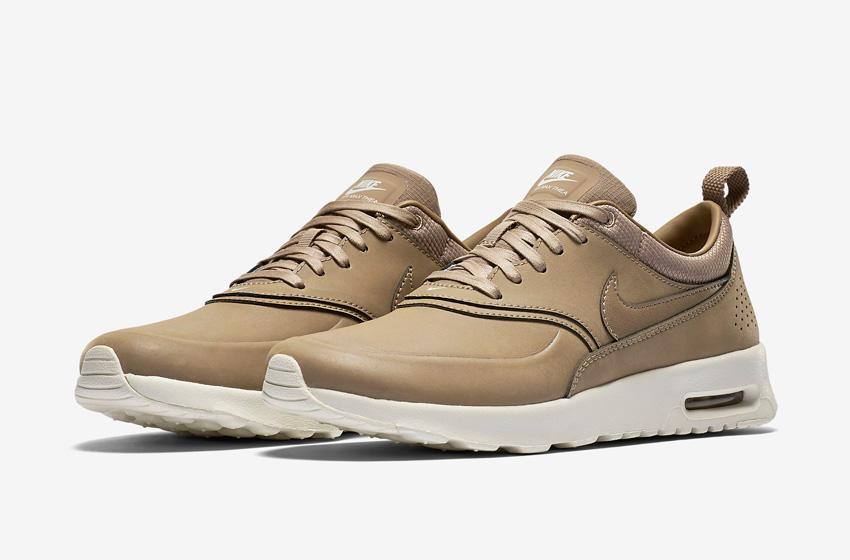Nike Air Max Thea Premium Desert Brown — dámské boty — světle hnědé (pískové), kožené, sneakers, tenisky