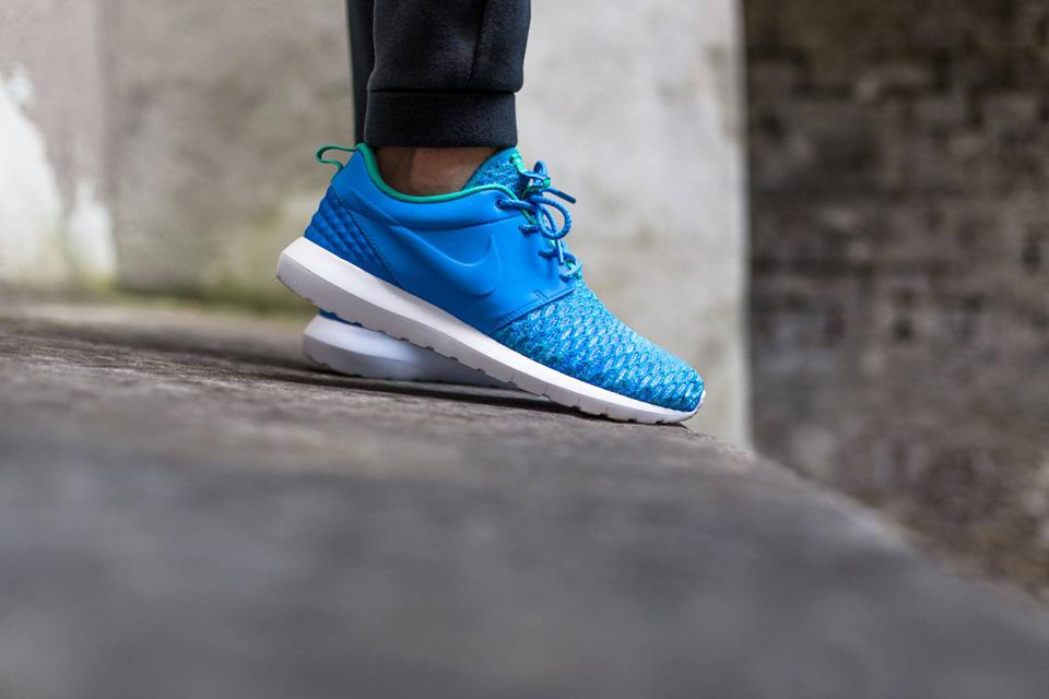 Nike Roshe One NM Flyknit Premium — modré boty, pánské a dámské tenisky, sneakers, Roshe Run, běžecké