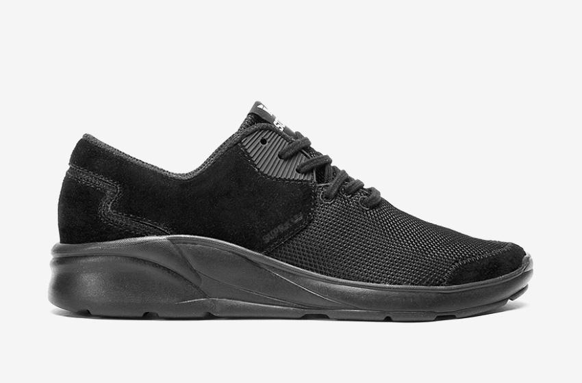 Boty Supra Noiz Black — černé, černá podrážka, pánské, dámské, sneakers, běžecké tenisky