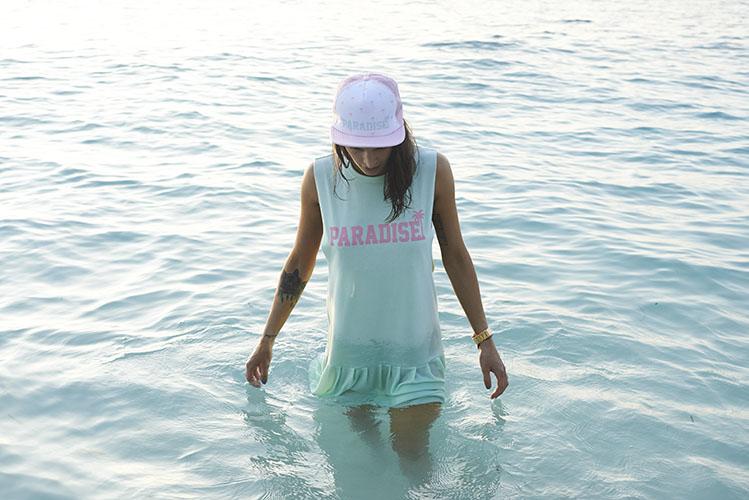 Femi Pleasure – zelené letní šaty Paradise – dámské oblečení – jaro/léto 2015