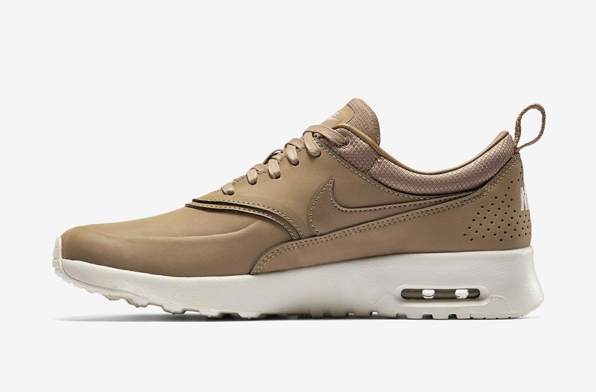 Nike Air Max Thea Premium Desert Brown — dámské boty — světle hnědé (pískové), kožené, tenisky, sneakers