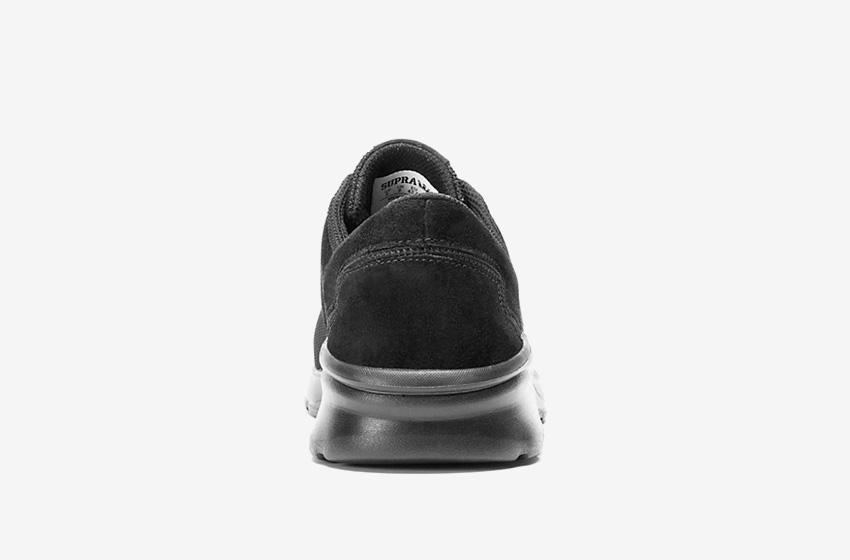 Boty Supra Noiz Black — černé, zadní pohled, pánské, dámské, sneakers, tenisky
