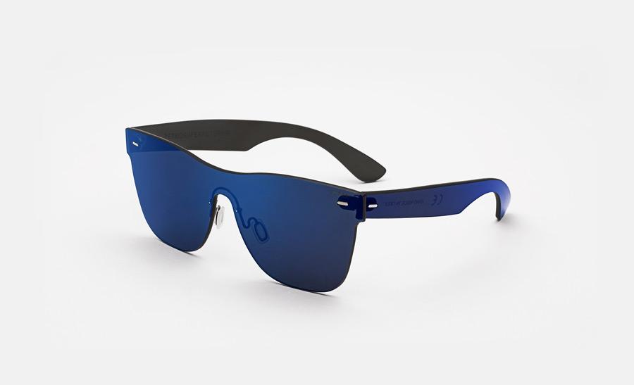 Super by RETROSUPERFUTURE® — retrofuturistické sluneční brýle bez obrouček, moderní, zrcadlové brýle — modré — skla Zeiss