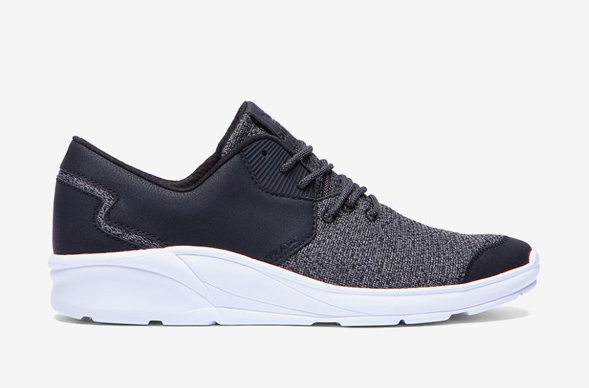 Boty Supra Noiz Black White — černé, bílá podrážka, šedá špička, pánské, dámské, sneakers, běžecké tenisky
