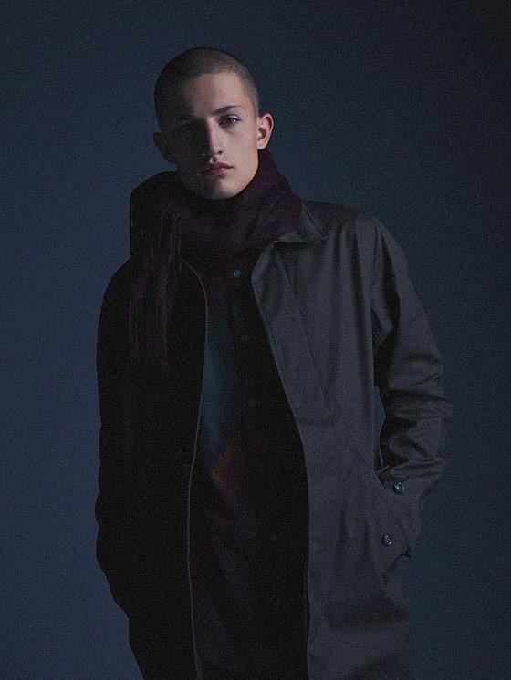 Carhartt WIP — tmavě šedá pánská zimní bunda, kabát, bez kapuce — podzim/zima 2015, pánské oblečení