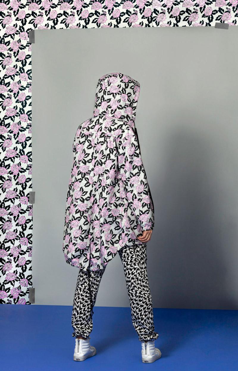 Vans x Eley Kishimoto — dámská parka s květinovým vzorem Magnolia — oblečení, boty a doplňky Living Art