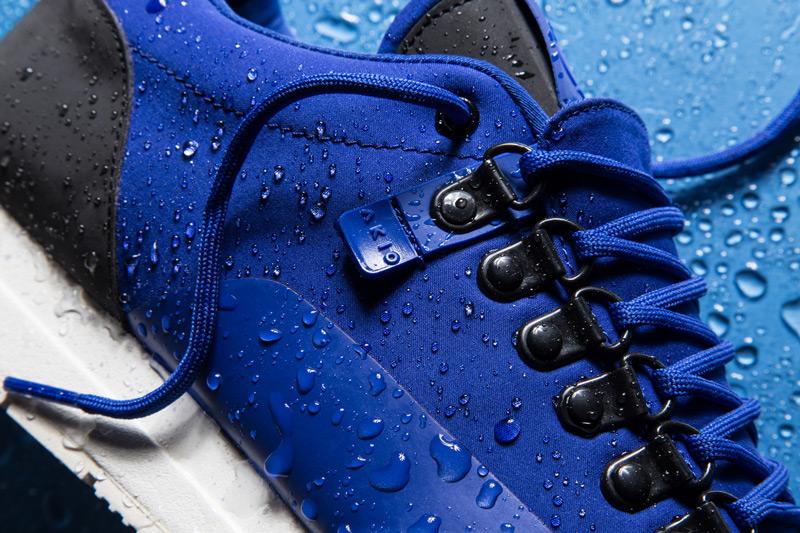 Akio — modré tenisky, pánské a dámské boty, sneakers, detail, voděodolné, nepromokavé — The Orion — Rain City Pack