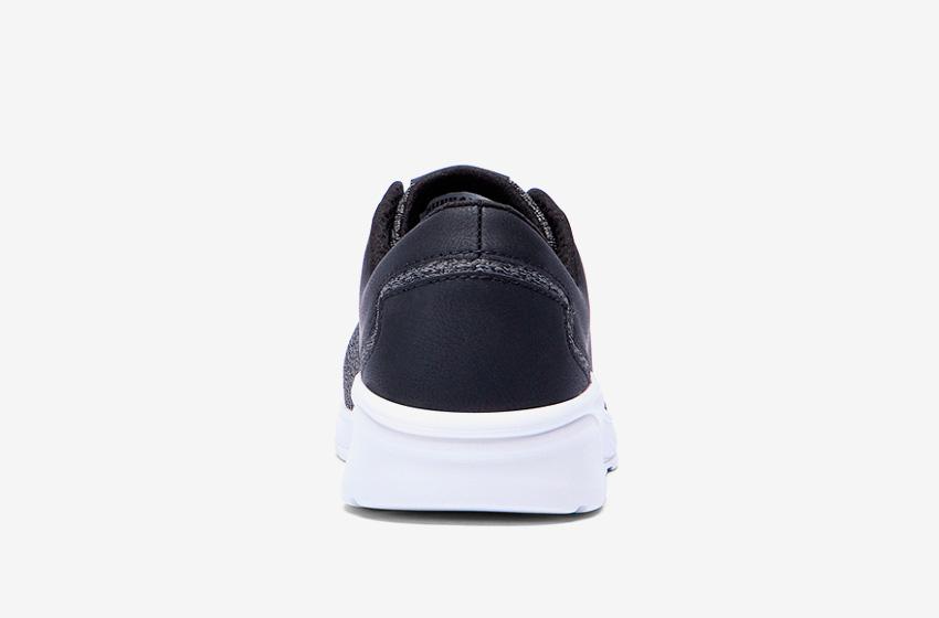 Boty Supra Noiz Black White — černé, zadní pohled, pánské, dámské, sneakers, tenisky