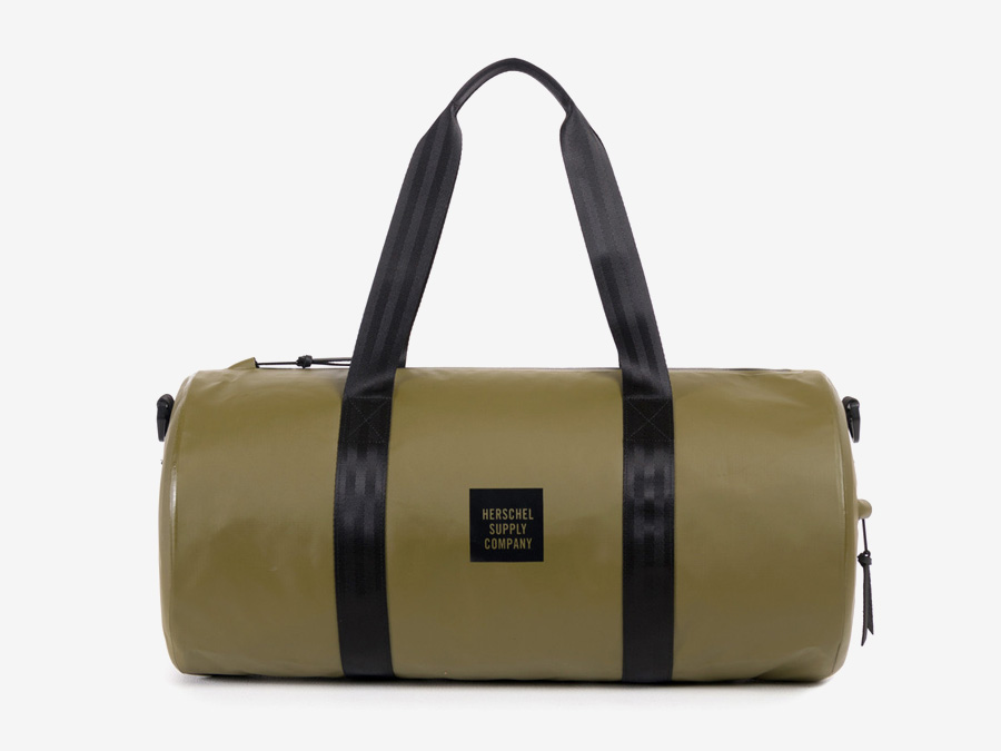 Herschel Supply Studio — zelená (olivová) cestovní taška do ruky, voděodolná, nepromokavá — Sutton Duffle