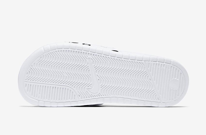 Nike Benassi Just Do It Print – dámské pantofle, letní nazouváky – bílá podrážka