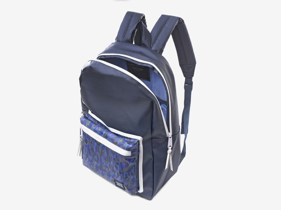 Batoh Herschel Supply & Liberty London – tmavě modrým barevné vzory – Settlement Backpack – Volcanism Liberty print