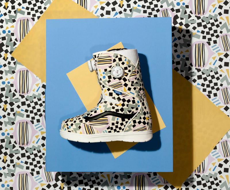Vans x Eley Kishimoto — snowboardové boty Hi Standard se vzorem Drums — oblečení, boty a doplňky Living Art