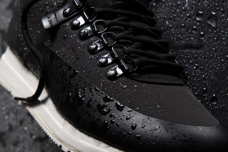 Akio — černé tenisky, pánské a dámské boty, sneakers, detail, voděodolné, nepromokavé — The Orion — Rain City Pack
