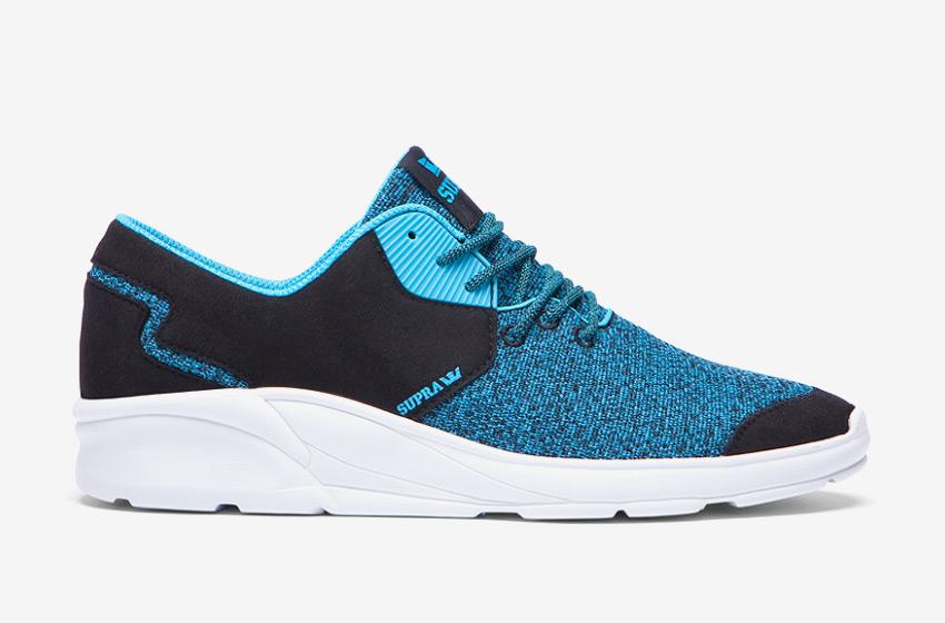 Boty Supra Noiz Black Blue Atoll — modré, černé, bílá podrážka, pánské, dámské, sneakers, běžecké tenisky