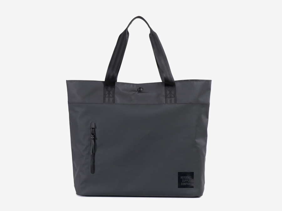 Herschel Supply Studio — černá taška přes rameno, městská taška do ruky, nákupní nepromokavá taška — Alexander Tote