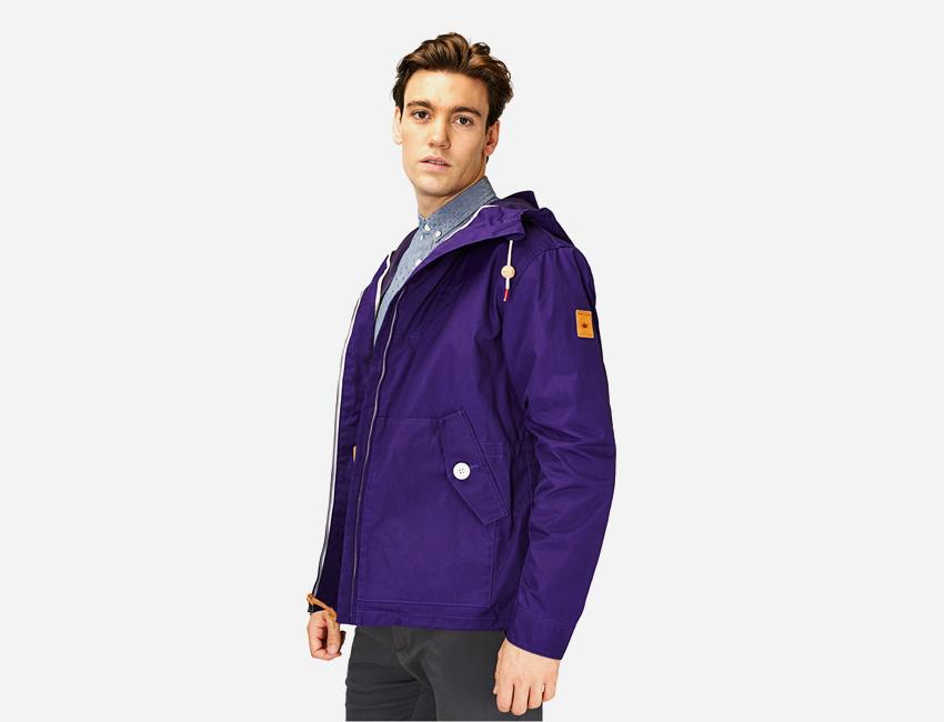 Penfield — pánská fialová bunda s kapucí — pánské oblečení jaro/léto 2015