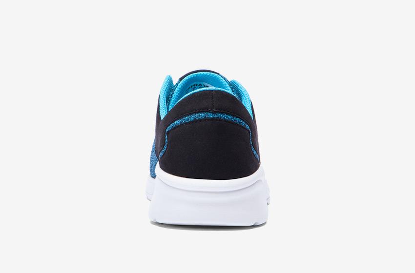 Boty Supra Noiz  Black Blue Atoll — černé, modré, zadní pohled, pánské, dámské, sneakers, tenisky