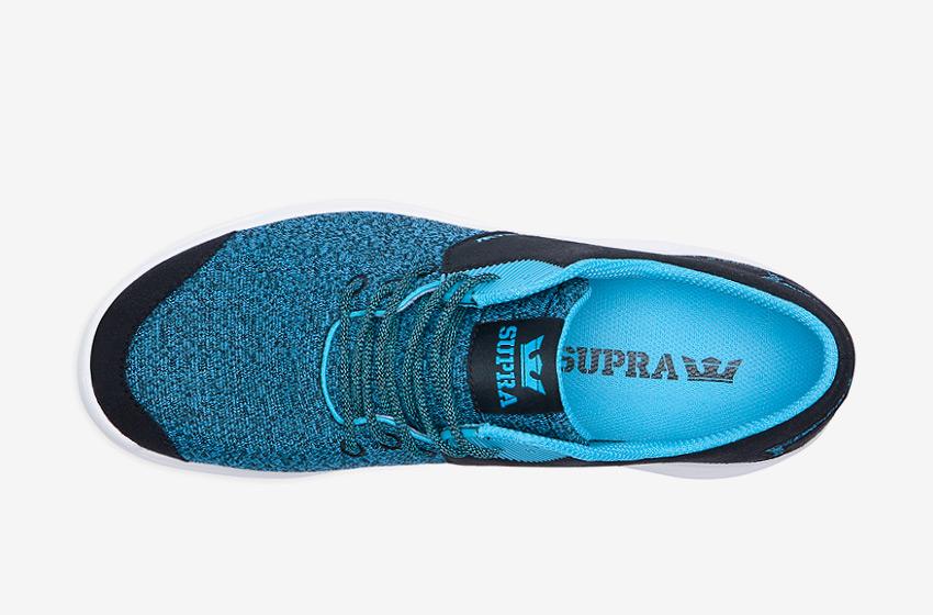 Boty Supra Noiz  Black Blue Atoll — černé, modré, horní pohled, pánské, dámské, sneakers, tenisky