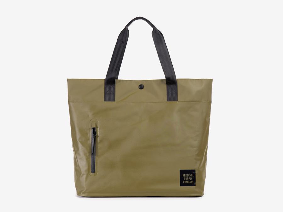 Herschel Supply Studio — městská taška do ruky, přes rameno, nepromokavá, voděodolná, zelená (olivová) — Alexander Tote