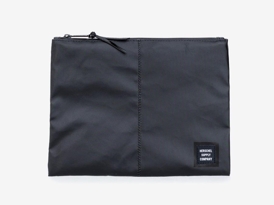 Herschel Supply Studio — píruční taška na dokumenty, spisovka, černá, voděodolná, nepromokavá — Network Pouch