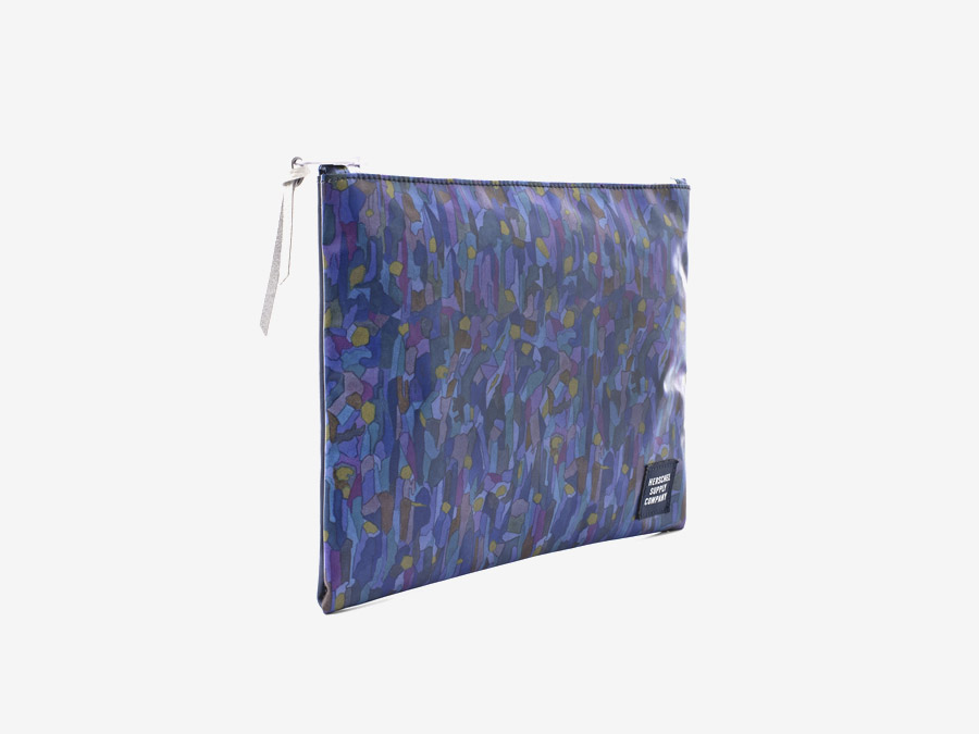 Taštička Herschel Supply & Liberty London – fialový vzor – Pouch – Volcanism Liberty print