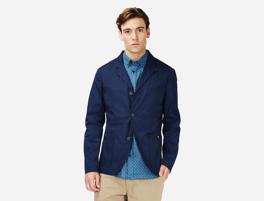 Penfield — pánské letní modré casual sako — pánské oblečení jaro/léto 2015
