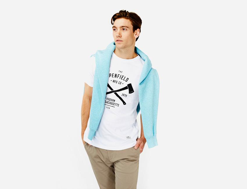Penfield — bílé tričko s potiskem – pánské — pánské oblečení jaro/léto 2015