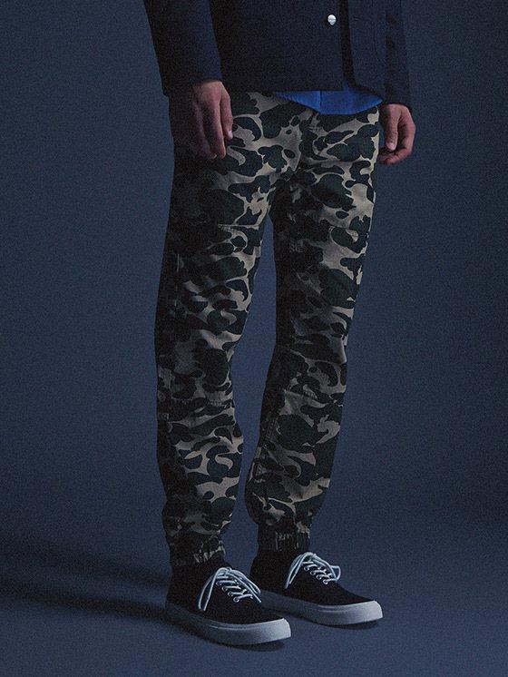 Carhartt WIP — pánské maskáčové kalhoty joggers — podzim/zima 2015, pánské oblečení
