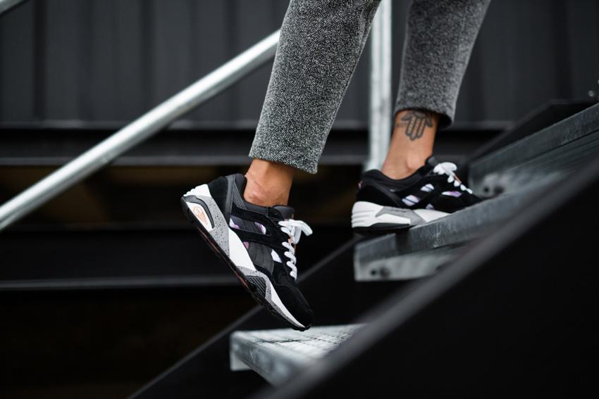 Puma Trinomic R698 — černé boty, sneakers, tenisky, dámské, pánské