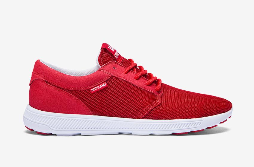 Boty Supra Hammer Run — červené — tenisky, běžecké, lehké — dámské, pánské