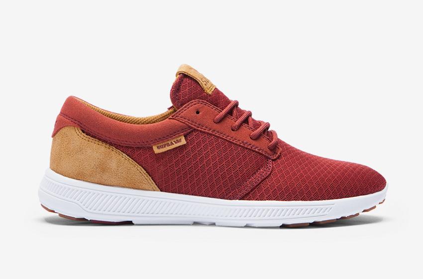 Boty Supra Hammer Run — hnědo-červené — běžecké lehké tenisky — pánské, dámské