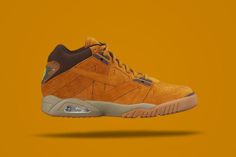 Nike Air Tech Challenge III Wheat — hnědé kotníkové boty, sneakers, pánské, dámské, pískové
