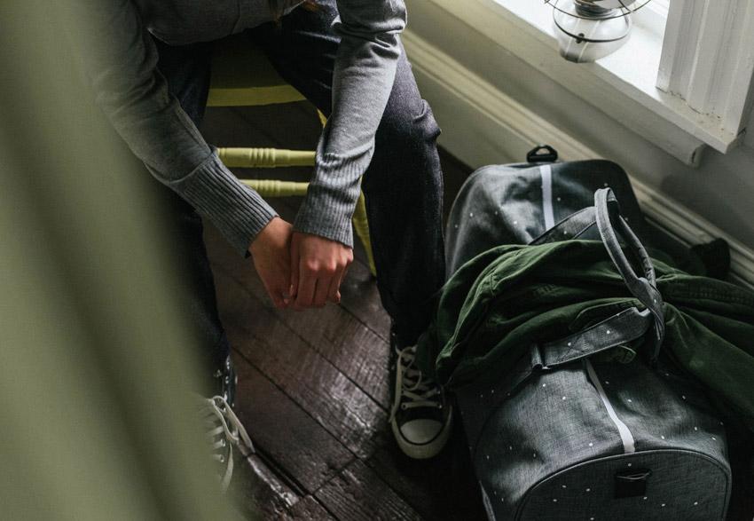 Herschel Supply — plátěná cestovní taška, šedá — Novel Duffle — podzim 2015 — lookbook