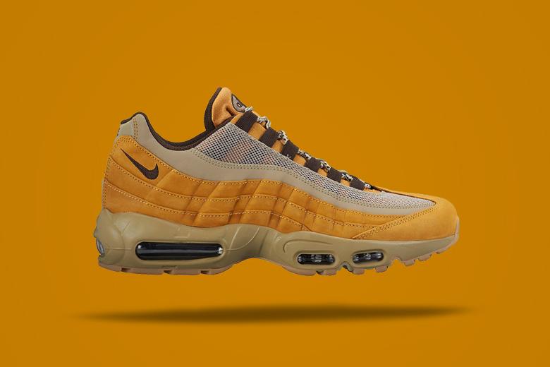 Nike Air Max 95 Wheat — hnědé sportovní boty, sneakers, pánské, dámské, pískové