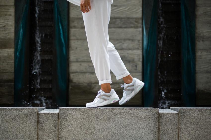 Puma Trinomic R698 — bílé boty, sneakers, tenisky, dámské, pánské