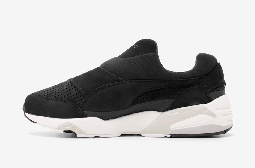 Stampd x Puma Trinomic Sock — dámské a pánské boty, černé, moderní tenisky bez tkaniček, futuristické sneakers
